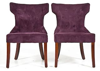 Pair of Pier 1 Purple Upholstered Side Chairs