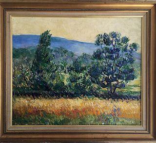 Franz (Fran•À_ois) Gaillard (Belgian, 1861-1932) Impressionist Painting