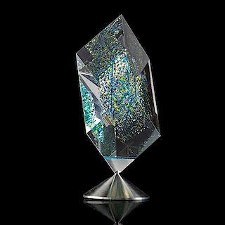 JON KUHN Massive spinning glass sculpture