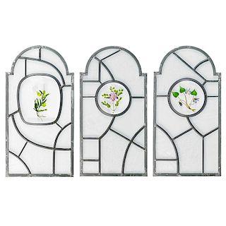 PAUL STANKARD Three glass windows