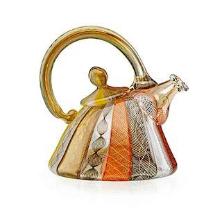 RICHARD MARQUIS Miniature glass teapot sculpture