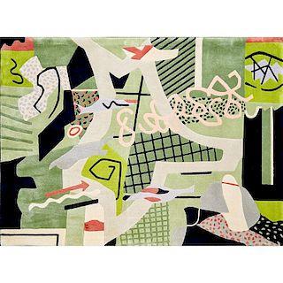 STUART DAVIS; V'SOSKE Rare tapestry