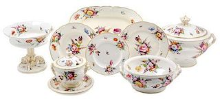 A Coalport Porcelain Dinner Service Width of first 18 3/4 inches.