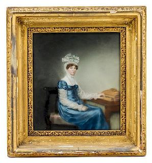 Artist Unknown, (English, Early 19th Century), Lady in Blue, Seated