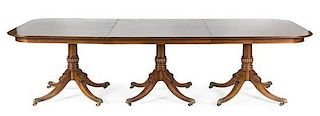 * A Regency Style Mahogany Extension Table Height 29 1/2 x width 113 1/2 x depth 48 inches.