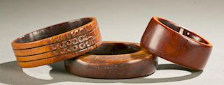 3 West African ivory bracelets, 19th / 20th c.