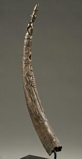 West African ivory oliphant, 19th / 20th c.