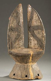 West African dance crest with animal ears.