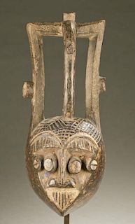 West African heart shaped face mask, 20th c.