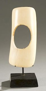 Gurunsi ivory armlet, 20th century.