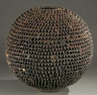 Lobi terracotta vessel, 20th century.