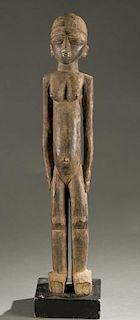 Lobi standing female figure, 20th century.