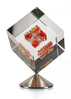 JON KUHN Spinning glass sculpture