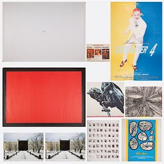 A Group of Ten Signed Exhibition Posters by the Various Artists, 20th Century,