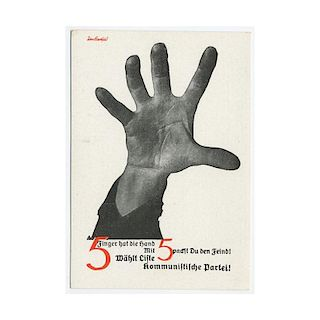 John Heartfield, 5 Fingers Has The Hand, Photomontage 1930's