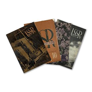 USSR in Construction, Set of 4 Magazines, 1930's