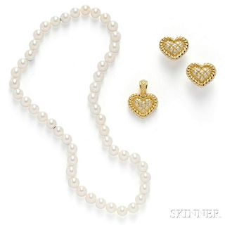 18kt Gold and Diamond Suite