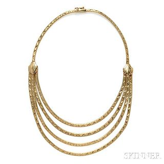 14kt Gold Bib Necklace