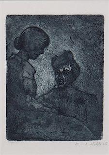 Emil Nolde, (German, 1867-1956), Zwei Frauen, 1906