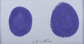 """Lucio Fontana Tempera on Paper """"Concetto Spaziele"""""""