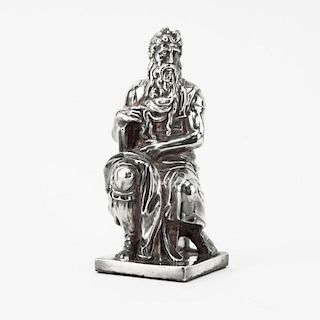 Sterling Silver Figure of Moses Sculpture.