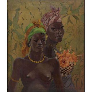 Émile Bernard, French (1868-1941) Oil on Canvas, African Women