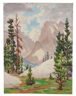 Irene D. Fowler, (American, 1884-1967), Mountain Valley Landscape