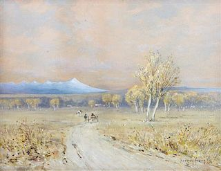 Harvey Otis Young, (American, 1840-1901), Following the Trail in Autumn
