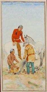Ila McAfee, (American, 1897-1955), Taos Scene, 1926