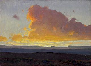 James Swinnerton, (American, 1875-1974), Desert Sunrise