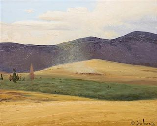 Gerard Curtis Delano, (American, 1890-1972), Cattle Country