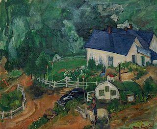 Boris Izrailovich Anisfeld, (Russian, 1879-1973), Hillside Scene Near Central City, Colorado, 1951