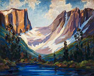 Charles Dietemann, (American, 1902-1973), Western Mountain Range