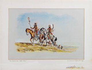 Byron B. Wolfe, (American, 1909-1997), Comanche War Trail