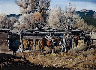 James Boren, (American, 1921-1990), Waiting, 1977