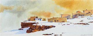 David Halbach, (American, b. 1931), Two Pueblo Landscapes