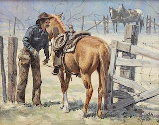 Harold Lyon, (American, b. 1930), Getting Ready, 1981