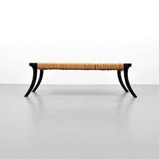 'Klismos' Bench, Attributed to T.H. Robsjohn-Gibbings