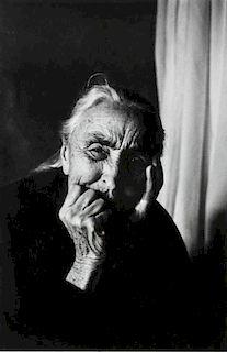 Dan Budnik, (American, b. 1933), Georgia O'Keeffe After Supper, Ghost Ranch, New Mexico, March 1975