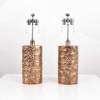 Sculptural Lamps, Manner of James Mont