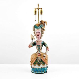 Large Figural Hollywood Regency Lamp