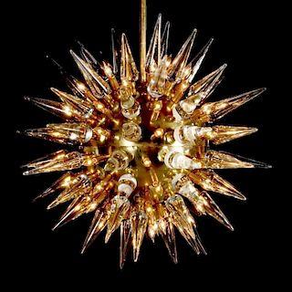 Monumental Italian Sputnik/Starburst Chandelier