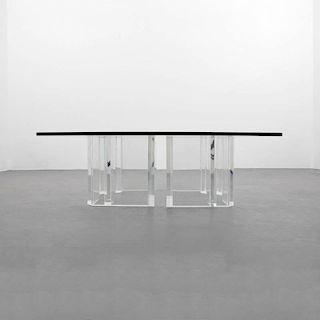 Jeffrey Bigelow Lucite Coffee Table