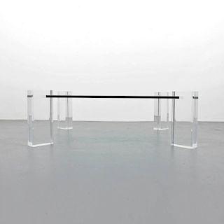 Lucite Coffee Table, Manner of Karl Springer