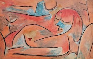 Paul Klee 'Winter' Lithograph