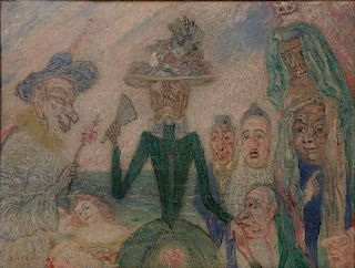 James Ensor, Oil on Canvas