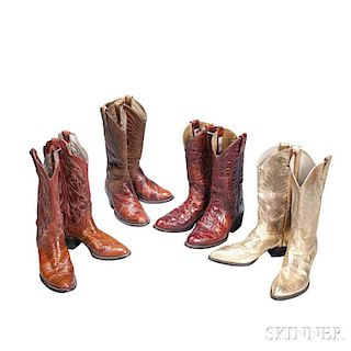7820f28fcbb Little Jimmy Dickens Four Pairs of Leather Cowboy B..