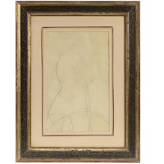 Attr. to Amedeo Modigliani, drawing