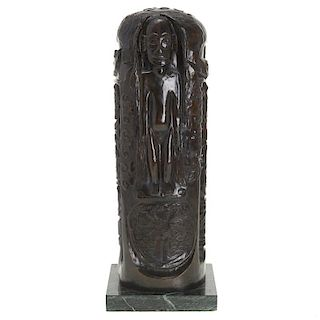 After Paul Gauguin, bronze totem