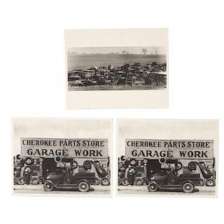 Walker Evans, (3) photographic prints